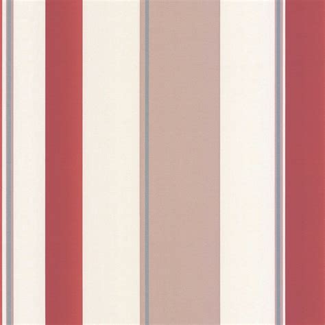 erismann poppy striped wallpaper red taupe cream 8995
