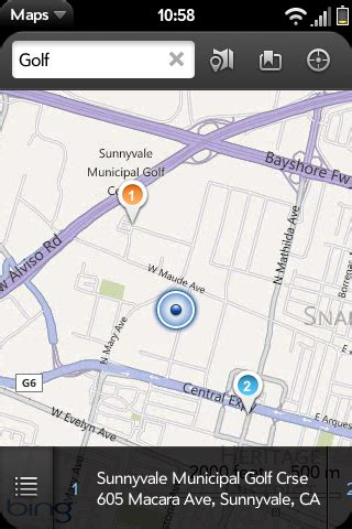 microsoft maps themes bing bing maps made available for all webos phones webos nation
