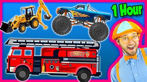 fire trucks monster truck videos for kids 1 hour compilation fire trucks monster