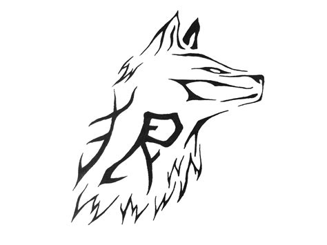 simple wolf tattoos simple tribal wolf design d 246 vme fikirleri