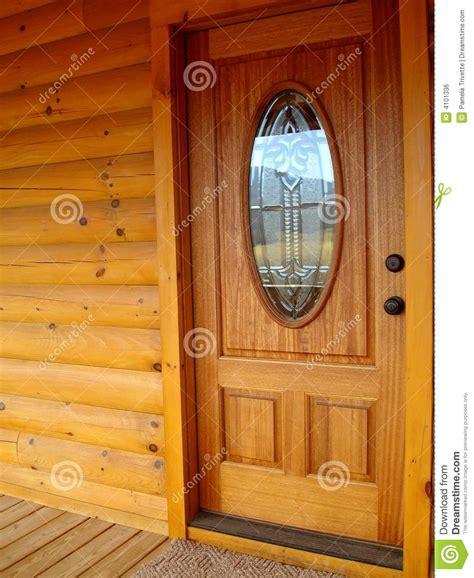 Log Cabin Interior Doors Front Door Log Cabin Royalty Free Stock Image Image 4101336