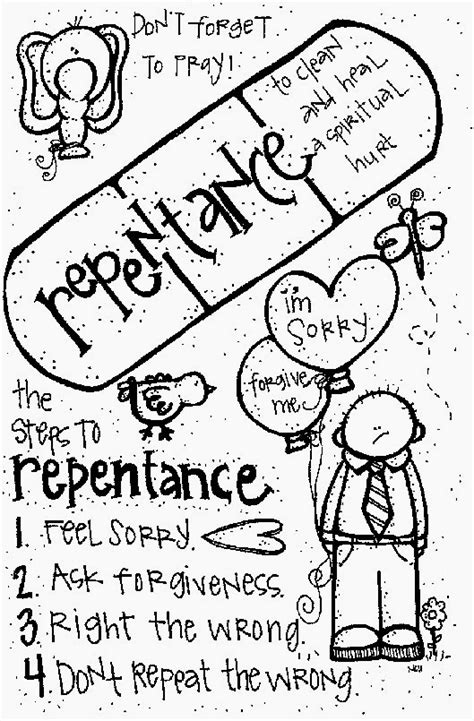 Lds Coloring Pages Repentance | melonheadz lds illustrating may 2011