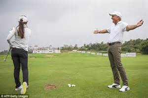 greg norman golf swing who is the 7ft 9in athlete cutting the rock down to size
