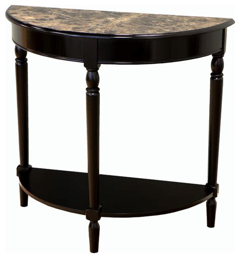 Marble Entry Table Entryway Table With Faux Marble Top Black Traditional Console Tables By Megahome