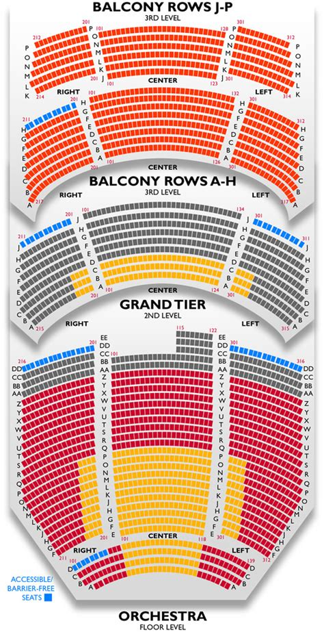 durham performing arts center seating dpac seating chart view