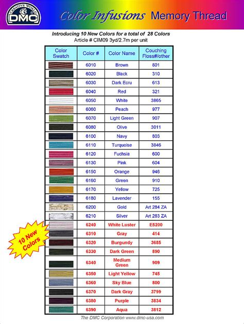 dmc floss card template pin dmc color chart on