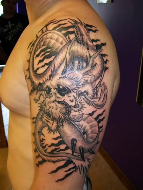 dragon sleeve tattoo designs for men bindasswap tattoos for on arm
