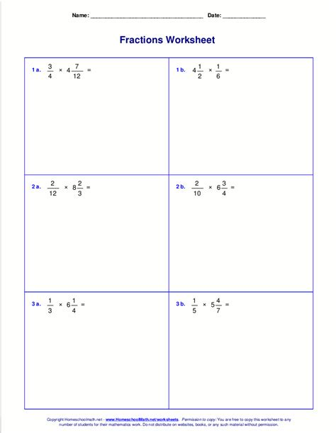 Multiplying Fractions And Whole Numbers Worksheets With Answers by Multiplying A Fraction By A Whole Number Worksheet