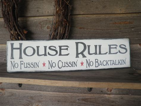 home decor signs country home decor wood signs family rules home decor