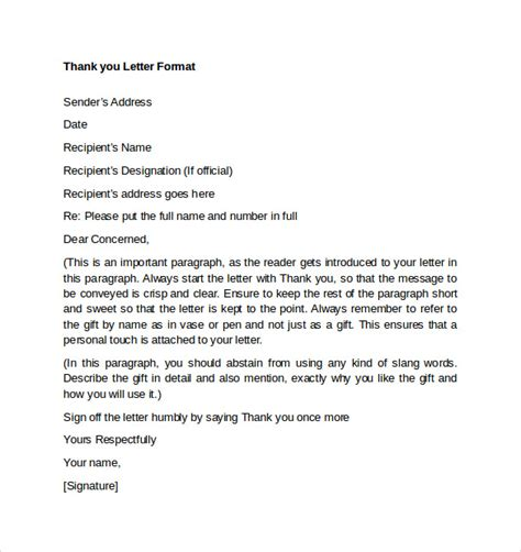 Thank You Letter Letter Format Thank You Letters Format 7 Free Documents In Pdf Word