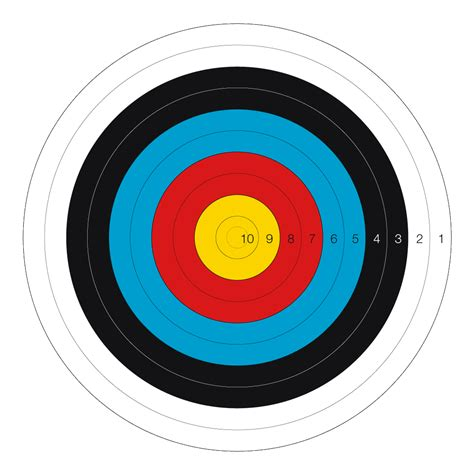 printable fita indoor targets the different types of archery practised today 187 target crazy