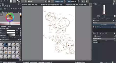 beginner anime styled digital art program