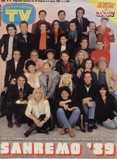 vasco sanremo 1982 festival di sanremo 1989 in cover su tv sorrisi e canzoni