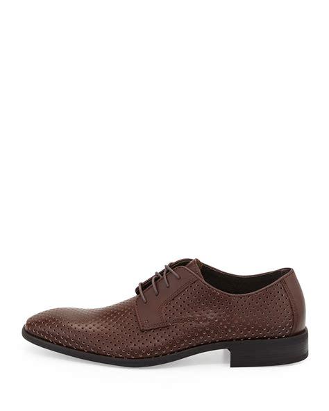 neiman mens shoes neiman firenze leather derby shoe in black for