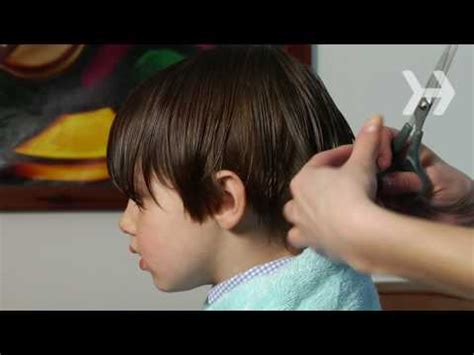 Cutting Boy Hair With Scissors | how to cut boys hair