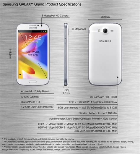 New Samsung Galaxy Grand1 I9082 Grand 1 Motomo Hardcase samsung unveils new 5 inch dual sim galaxy grand with dual 1 2ghz processor and 8mp