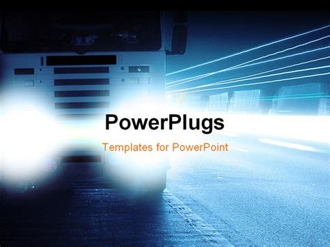 powerpoint presentation templates for transportation parked on curbs lorry road machine transport powerpoint