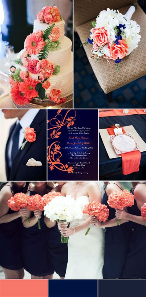 colour themes peach 2016 spring wedding color trends chapter two stunning
