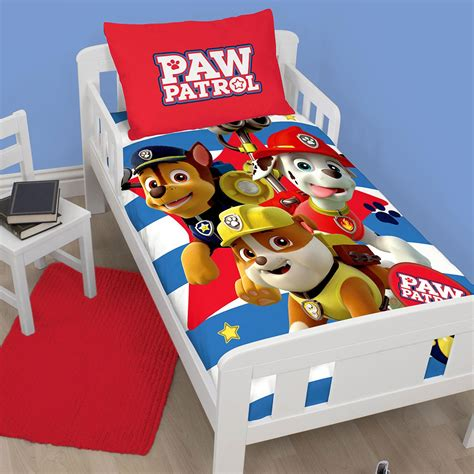 Paw Patrol Toddler Bedroom Set by Paw Patrol Official Duvet Cover Sets Various Designs