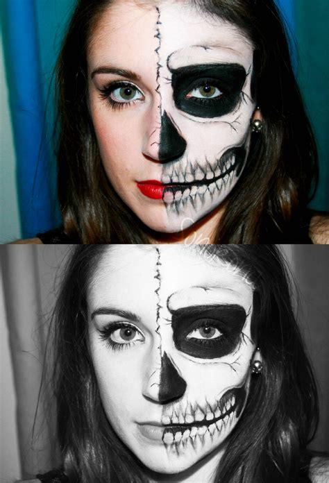 imagenes de uñas pintadas ala mitad halloween en uk half skull paperblog