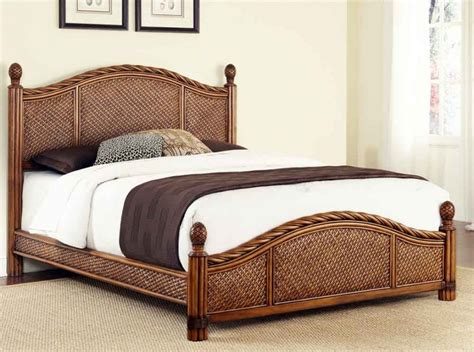 rattan bedroom furniture sleigh bed modern house design