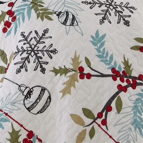 levtex holly twin quilt set whitered cotton christmas