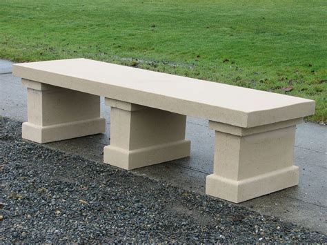 how unique concrete bench designs application on parks