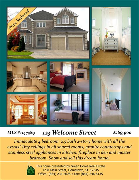 free open house post card templates open house designs real estate flyers booklets