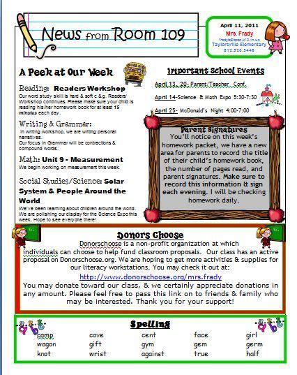 16 preschool newsletter templates easily editable and printable