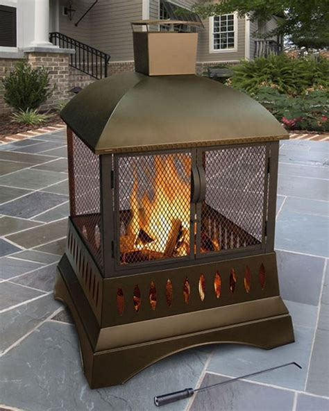Outdoor Metal Fireplaces - 17 best ideas about outdoor wood burning fireplace on pinterest metal chiminea steel fire pit