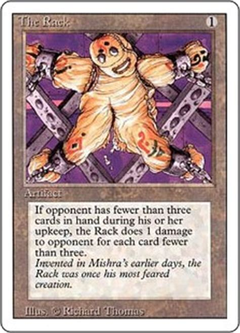 The Rack Deck Mtg by The Rack Revised Edition Gatherer Magic The Gathering