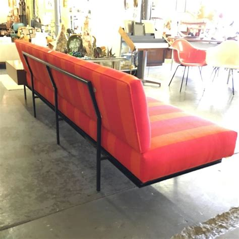knoll sofa vintage florence knoll sofa with vintage alexander girard stripe