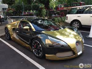 Golden Bugatti Veyron The Supercar Golden Bugatti Veyron Grand Sport Hits