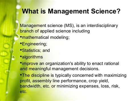 Management Science 2 management science ppt