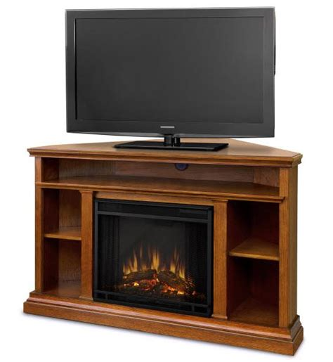 Electric Entertainment Fireplace by 50 75 Quot Churchill Oak Entertainment Center Corner Electric