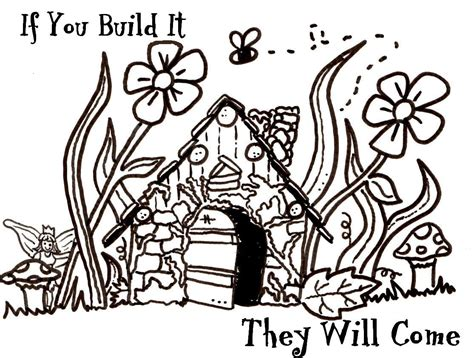 faerie garden spring colouring fairy houses coloring pages google search paper crafts fairy houses fairy and