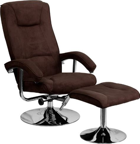 brown microfiber office chair flash furniture contemporary brown microfiber recliner and