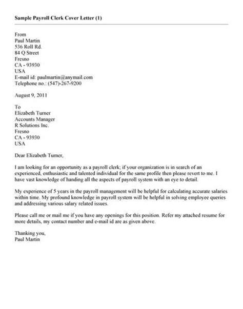 payroll clerk cover letter best business template