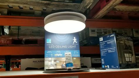 costco motion sensor light winplus costco winplus led ceiling light w smart sense 25