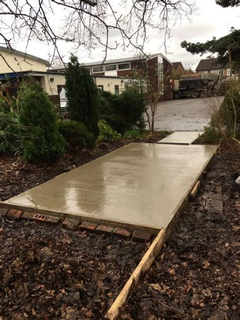 Concrete Base For Shed by Concrete Shed Base Blackpool Lees Solutions