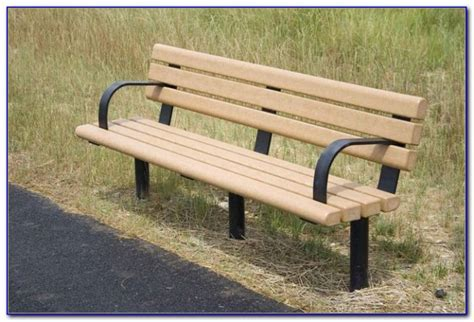 plastic park bench ends canada recycled plastic park benches bench home design ideas