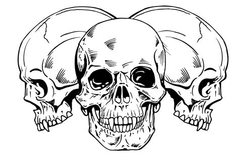 tattoo designs skulls unique skull tattoos skull tribal design 227