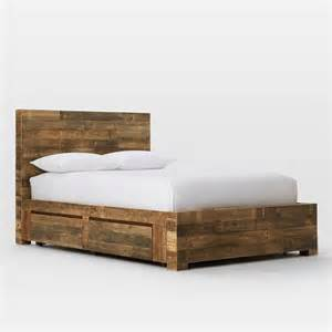 aufbewahrung bett emmerson reclaimed wood storage bed west elm