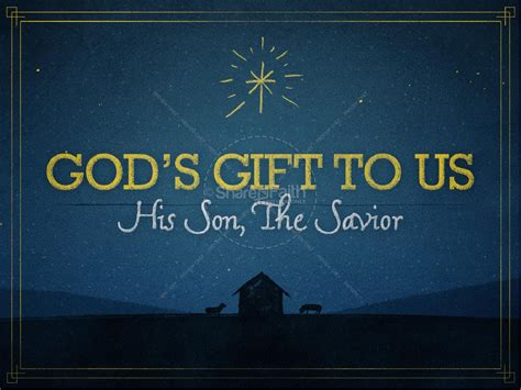 god s gift to us christmas powerpoint template christmas