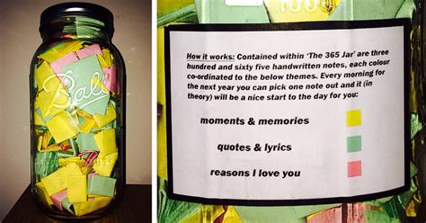 Gift To Husband 365 Days Of by Boyfriend Puts 365 Notes In A Jar For His