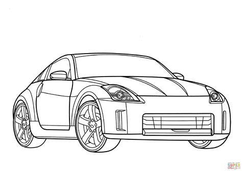 nissan cars coloring pages nissan coloring pages coloring nissan 350z coloring page free printable coloring pages