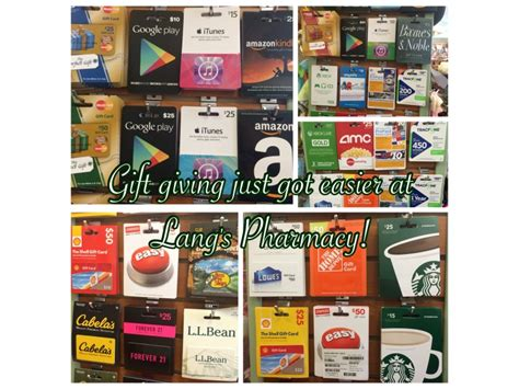 Drugstore Gift Card - lang s pharmacy has a gift card mall weston ct patch