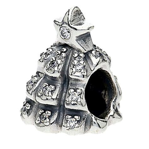 pandora silver cubic zirconia christmas tree bead 791239cz