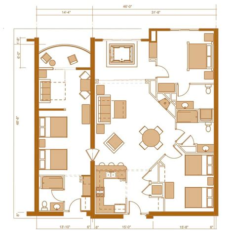 3 bedroom condo floor plans wisconsin dells three bedroom condo