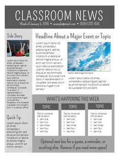 newsletter templates examples ela pinterest